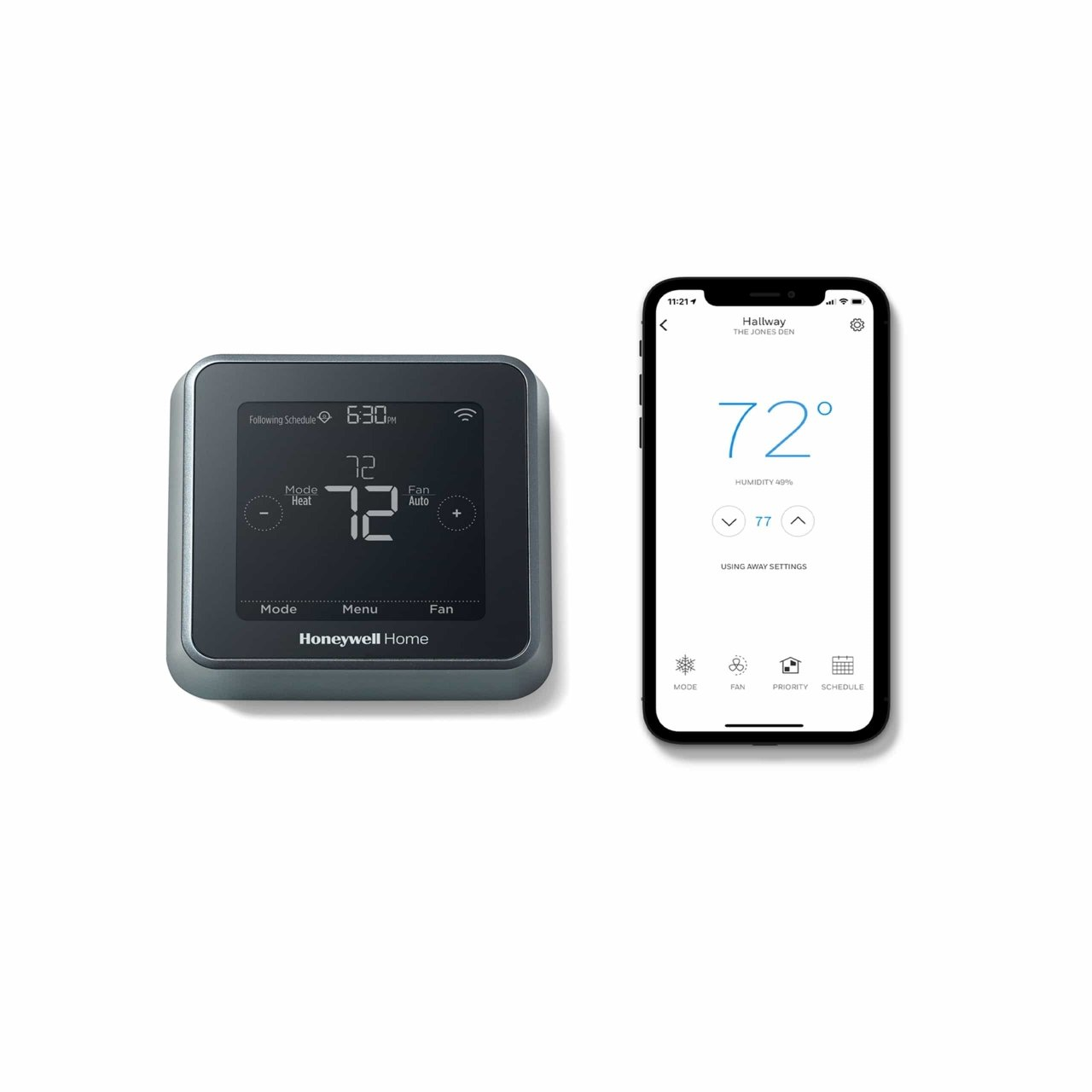 Honeywell Home T5+ Smart Programmable Touch-Screen Wi-Fi Thermostat