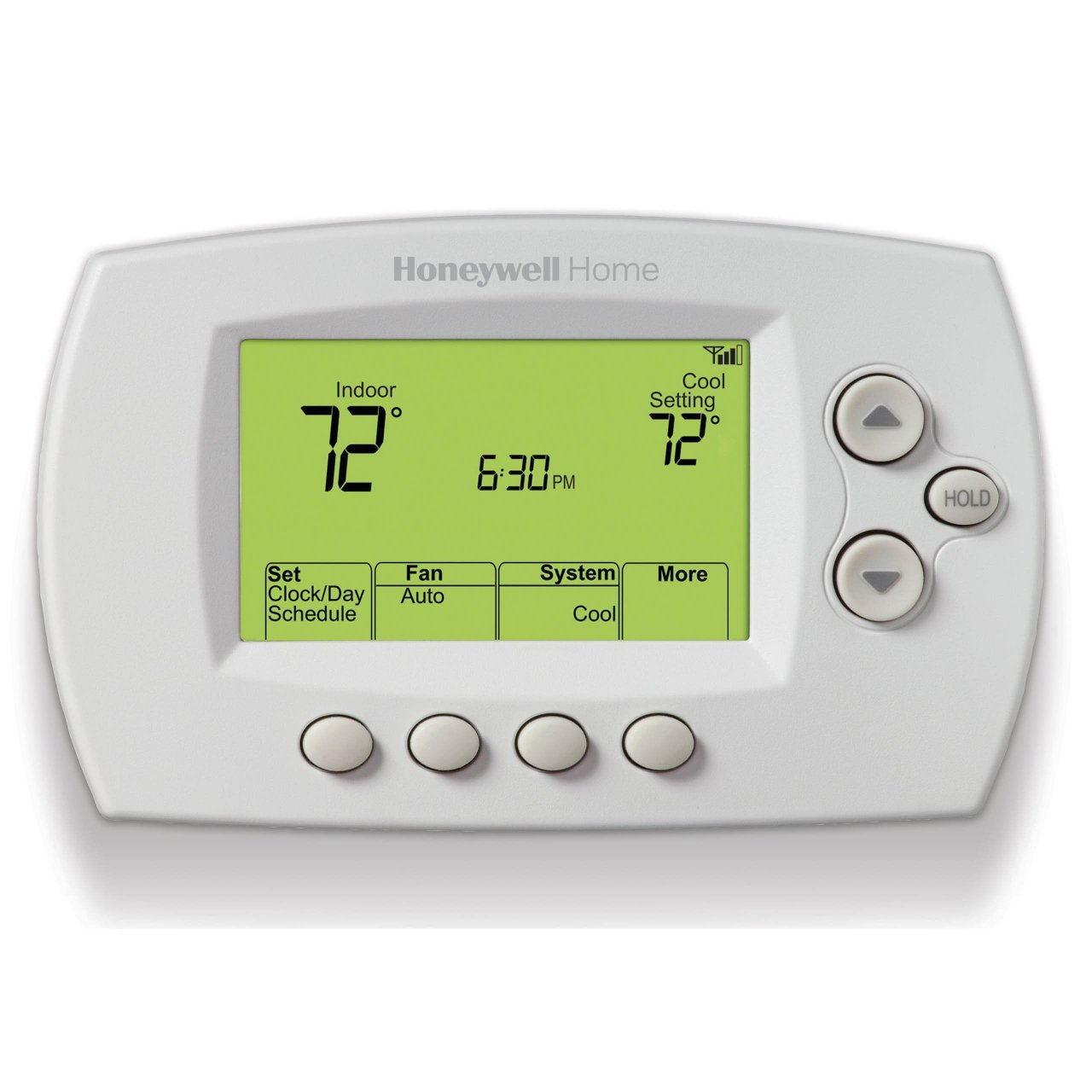 White 7 Day Program Thermostat Fahrenheit Honeywell Home