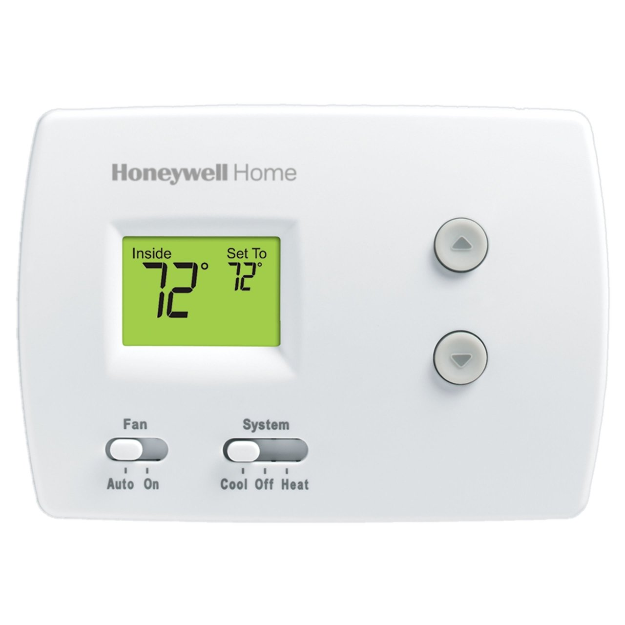 White 1H1C Non-Programmable Digital Thermostat | Resideo Pro