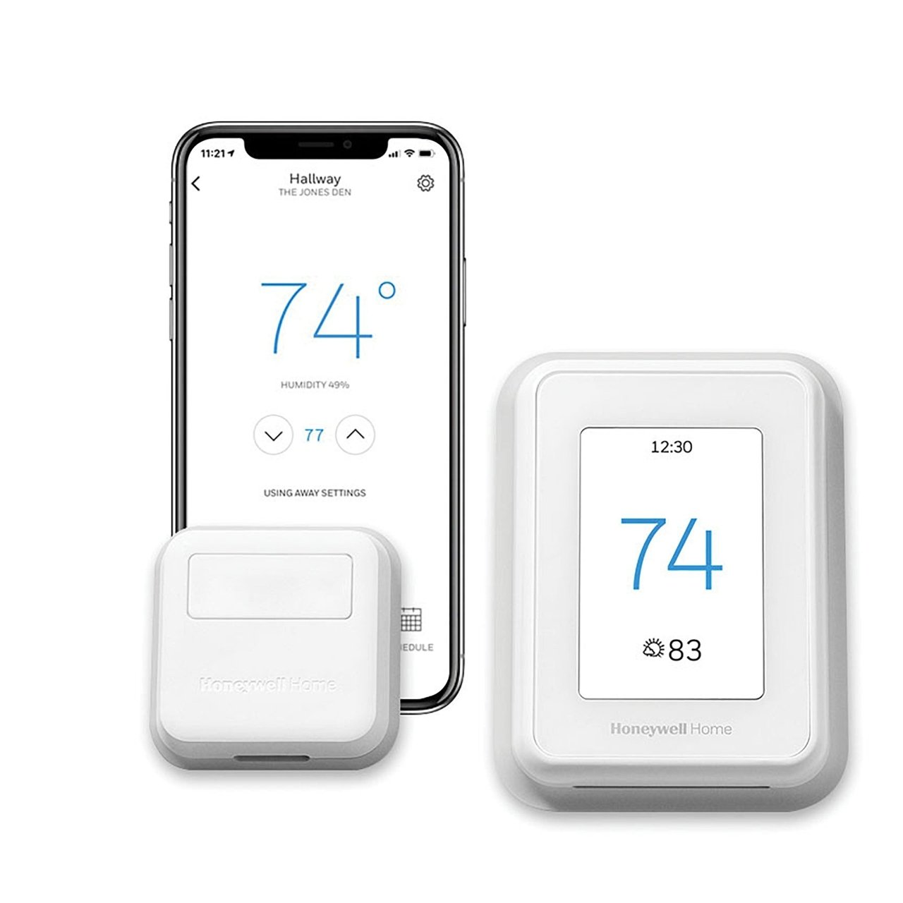 T9 Smart Programmable Touch-Screen Wi-Fi Thermostat with Smart Room Sensor